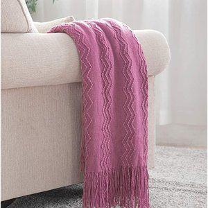 Textured Knit Throw Blanket